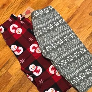 Poof! Christmas Pajamas Pants Tight Fitting